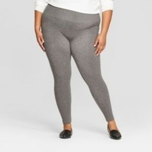 NWT Grey Fleece Lined Leggings-Size 2X - A New Day